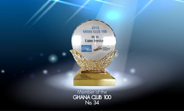 L'AINE Services Limited is 34th On Ghana Club 100 List